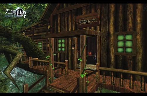 这座盖在树上的古朴小木屋经常有各色
