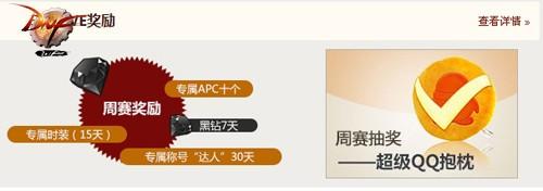 超级QQ助阵第六届格斗大赛 赛事奖励