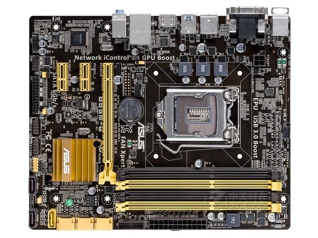 华硕 B85M-G在扩展插槽方面,该主板拥有1条PCIE x16插槽,2条PCI插槽以及1条PCIE x4插槽。背部I/O接口方面,该主板提供了2个PS/2接口,4个USB2.0接口,2个USB3.0接口,VGA/DVI/HDMI视频输出接口,1个RJ45网络接口及模拟音频接口。较为全面的背部I/O配置方便了用户的日常使用。 内存方面,采用了4条DDR3 DIMM双通道内存插槽,支持高达32GB容量的内存。SATA接口方面,该主板配备了一个B85原生的SATA3接口及5个SATA2接口。