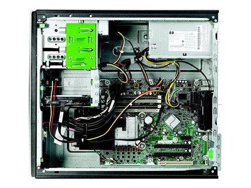 hp compaq 8300 elite mt(f4z70pa)电脑采用了黑色的小型立式机箱