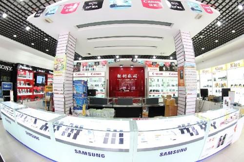 图为:胜创数码手机店店面图-高性价比手机 小米红米2济宁售价799元