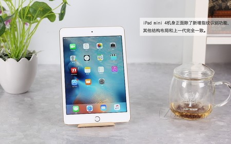 苹果 iPad mini 4金色 正面图