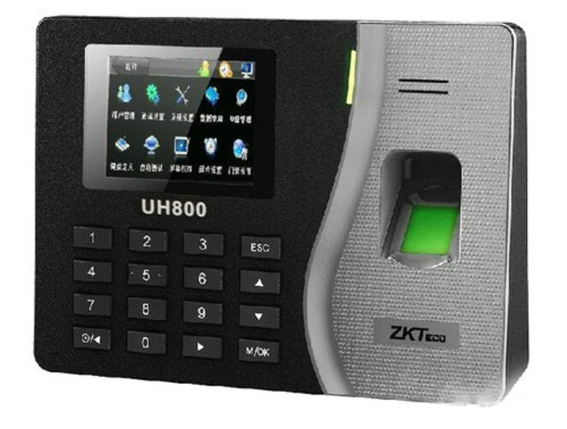 图为:中控UH800指纹考勤机 中控UH800指纹考勤机支持2000枚指纹识别信息的存储,并且支持8万条记录的存储,对于存储的信息支持U盘下载,存储备份更加方便,支持T9输入,支持TCP/IP,支持485。配置更容易,实用更方便! 编辑点评: 中控UH800考勤机能够满足中小型企业的管理需求;从识别速度上来说,能够保证高精准度的识别;且中控支持后端软件网络升级,是一款成熟稳定非常可靠的指纹考勤机,喜欢就赶紧购买吧。 中控UH800考勤机 [商家报价] 499元 [推荐商家] 青岛恒翔泰电子 [商家地址]