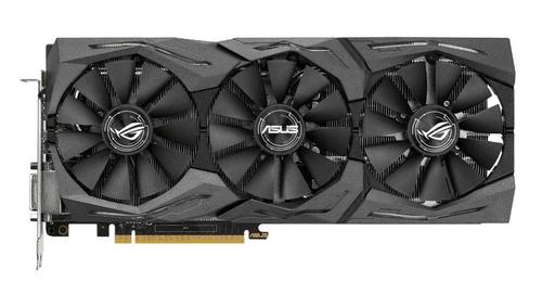 【散热彪悍,专业静音】全新的DirectCU III冰霜酷铜散热器,华硕专利扇叶设计的三风扇不仅提升冷却效能达30%,还可提供3倍降噪效果ROG STRIX-GTX1080-O8G-GAMING采用独家FanConnect全系统风扇连接设计搭配PCB板上两个四接脚系统风扇接头可随GPU温度提升调节风扇,提供辅助散热,达最佳冷却效果