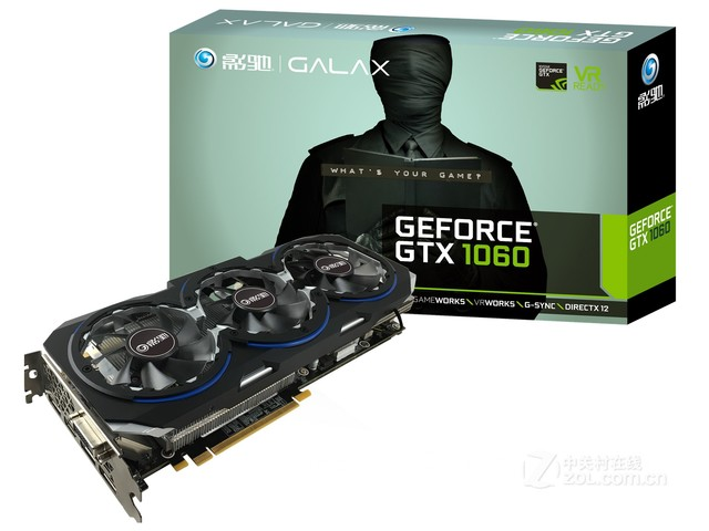 影驰GeForce GTX1060骨灰大将 售1759元