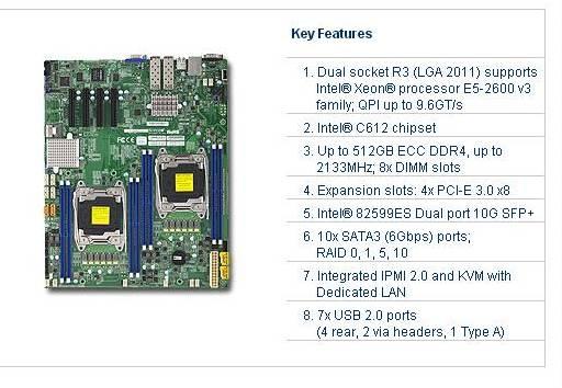超微 X10DRD-ITP服务器主板现货2950元