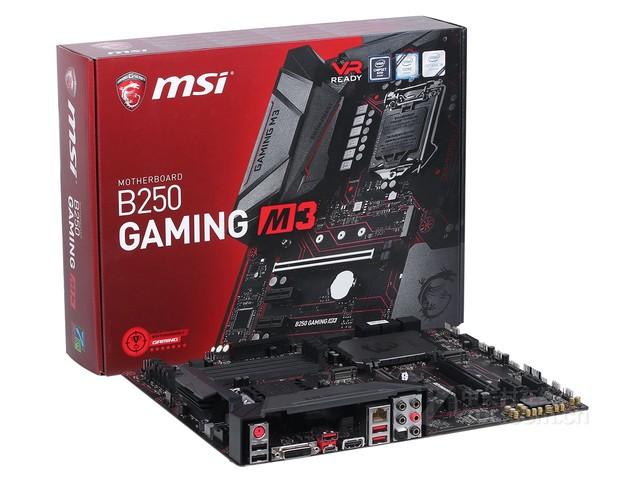 微星B250 GAMING M3 甘肃锦鑫售1077元