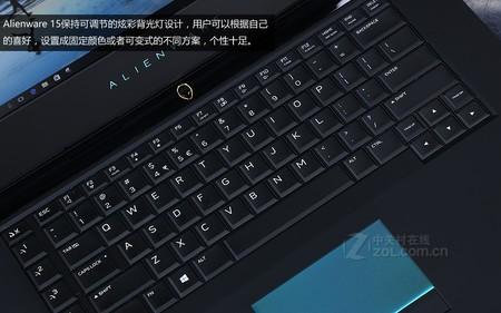 Alienware 15银色 键盘图