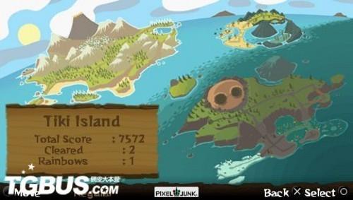 游戏世界地图,显示当前岛屿信息
