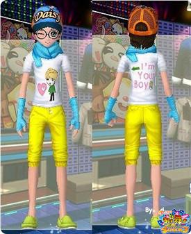 男橘黄裤子搭配图片