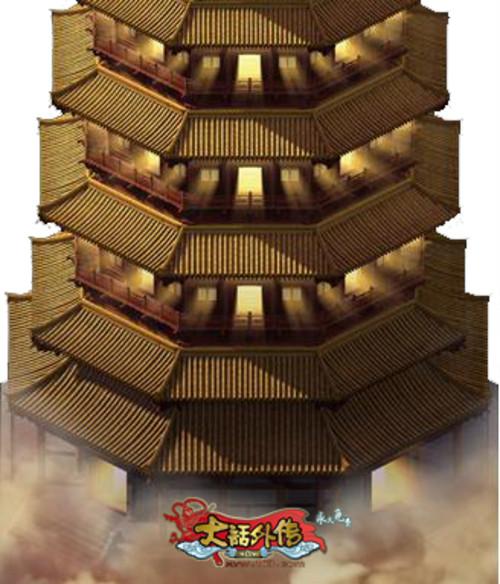七宝玲珑塔外部全景图