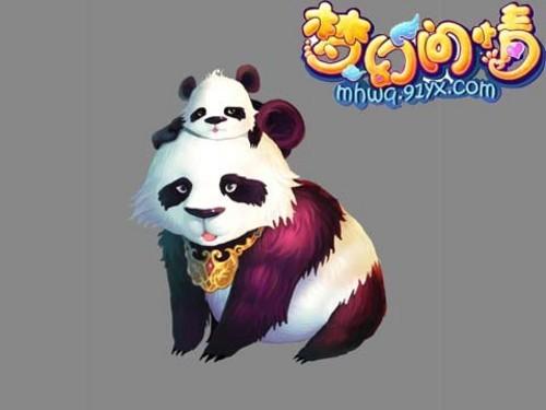 可爱熊猫头像梦幻