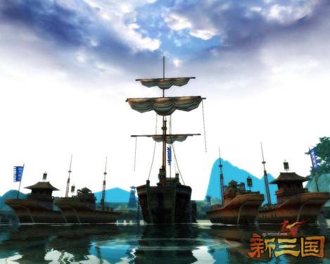 赤壁·新三国水战场开放四阵营同屏流畅PK
