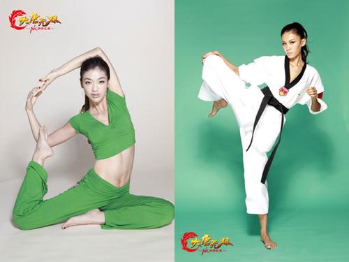 运动照比拼:瑜伽媚娘vs跆拳道高手
