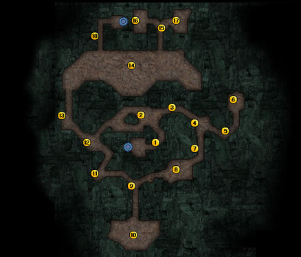 《洛汗》怪物分布图-水晶矿场二层