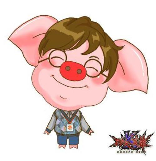 小猪圆嘟嘟,但是性格温和可爱之极,一直笑眯眯的他也给团队带来诸多