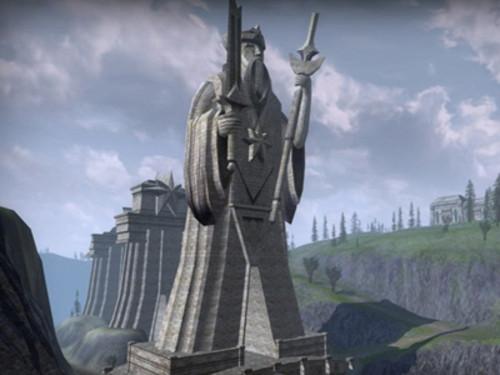 指环王_叶子猪游戏网; 《指环王ol》中,各式各样的雕像——守护石