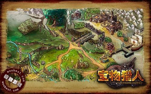 别样风情猎宝游戏《宝物猎人》手绘地图