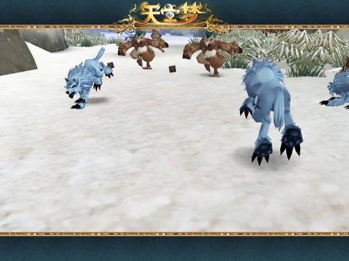 雪地里的小动物图片