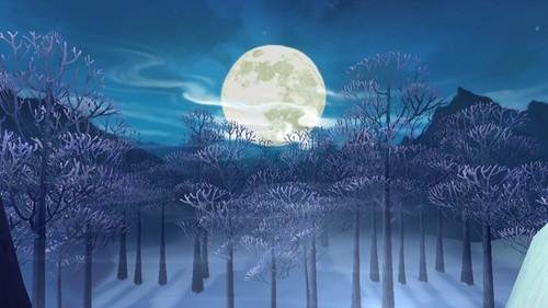 月亮水墨背景素材