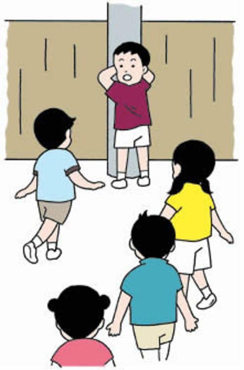 禁止说话卡通简笔画