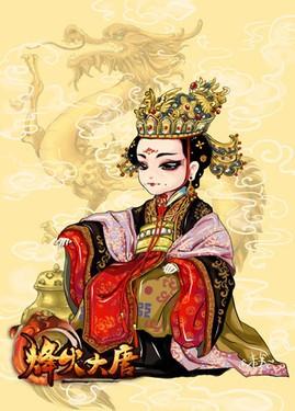 唐朝古装美女发型手绘分享展示图片