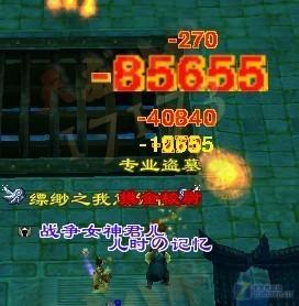 天龙八部全3玩家打怪四五万!装备搭配贴图