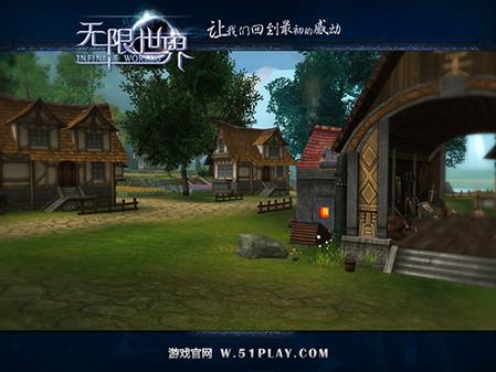 游戏欧式村庄场景