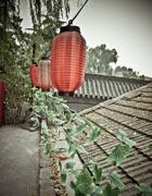 屋顶的红灯笼