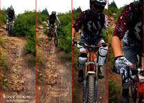 车友使用NEX5帮Ray连拍的骑行画面