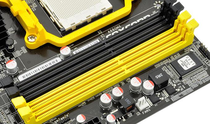 A88GMX内存插槽