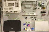 一台打印机可被分解回收的各种部件