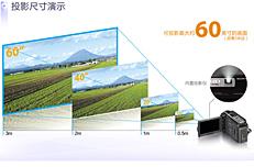 最大可投放60英寸屏幕