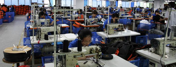 百诺专业摄影包生产线