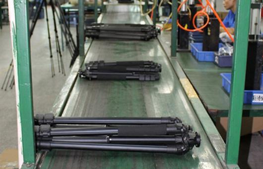 百诺专业三脚架与云台生产线现场参观