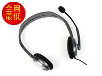 罗技 H110 视频音乐聊天利器  黑色 频率响应20-20000Hz 6英尺屏蔽连线 3.5mm插头