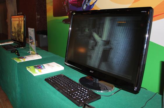 Acer宏碁发布会液晶展示