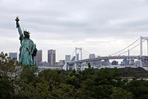 彩虹桥和自由女神像