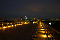 台场木桥夜景