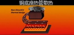 传统:铜底座热管散热
