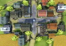 小镇俯瞰图
