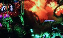 各种色彩结合在一起的游戏场景