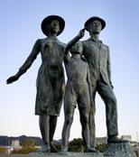 神户港口的雕像