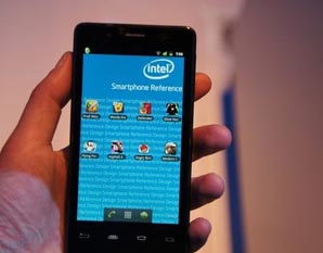 Atom2460 Intel安卓智能机亮相CES2012