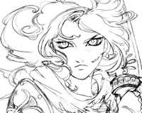 原创手绘:愤怒的盾娘