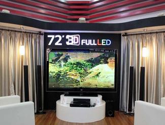 72吋LG FULLLED 3D电视展出