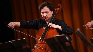 大提琴家朱亦兵现场演奏