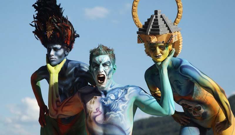 总有一款妖孽惊到你:世界人体彩绘节
