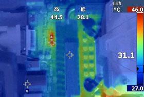 热成像图对比测试