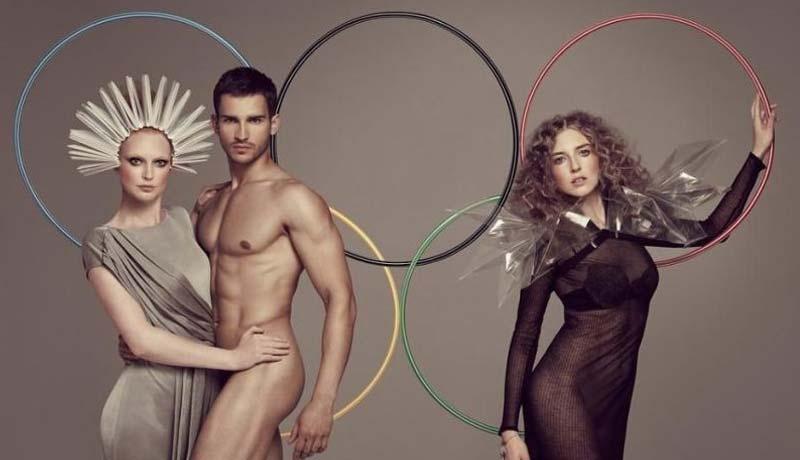 超模裸体演绎时尚奥运